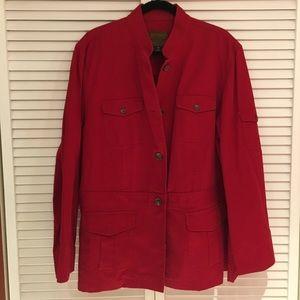 Ralph Lauren red jacket 100% cotton 3x EUC